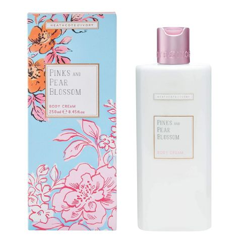 Pinks & Pear Blossom Body Cream 250ml Heathcote & Ivory